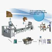 Bone and Vegetable Soup Weighing Packing Production Line
